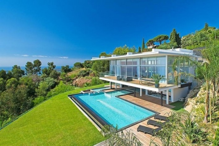 vente maison golfe juan villa contemporaine super cannes 5 chambres. Black Bedroom Furniture Sets. Home Design Ideas