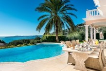 Just near Monaco, 7 bedroom villa with sea view and sea view