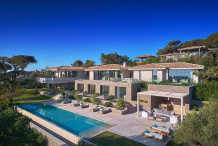 Contemporary 10 bedroom villa with sea view and huge pool