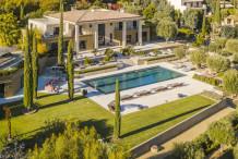 Domaine d'exception sur les collines de Cannes, 9 chambres, vue mer et grande piscine